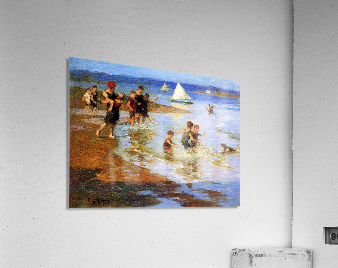 Children at Play on the Beach  Acrylic Print