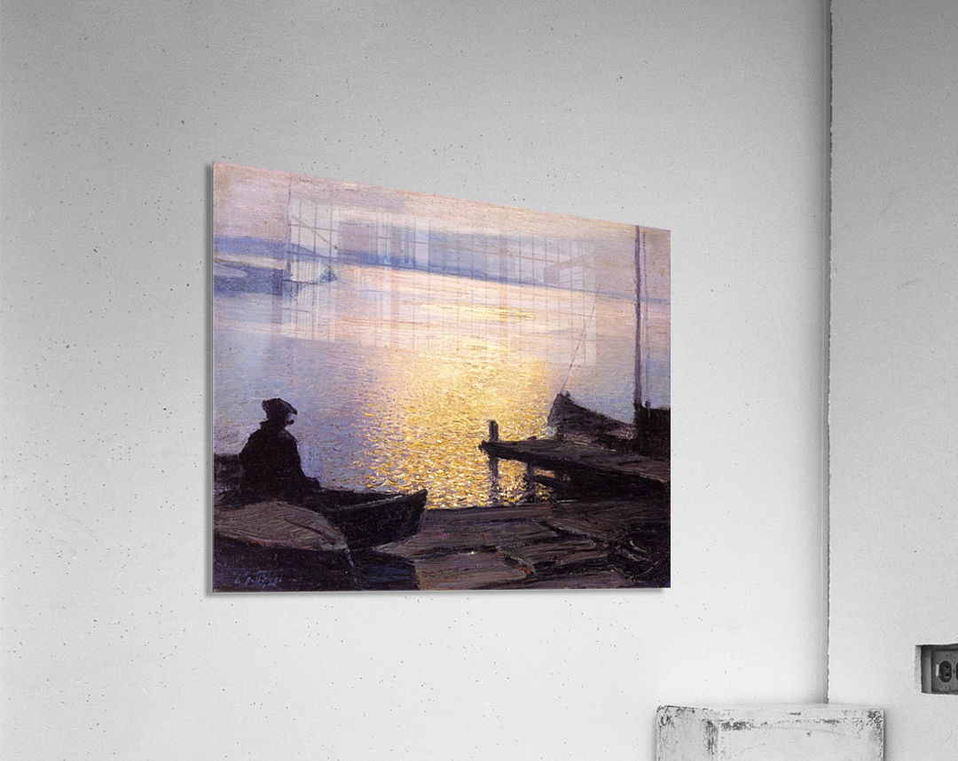 Fisherman in the sunset  Acrylic Print