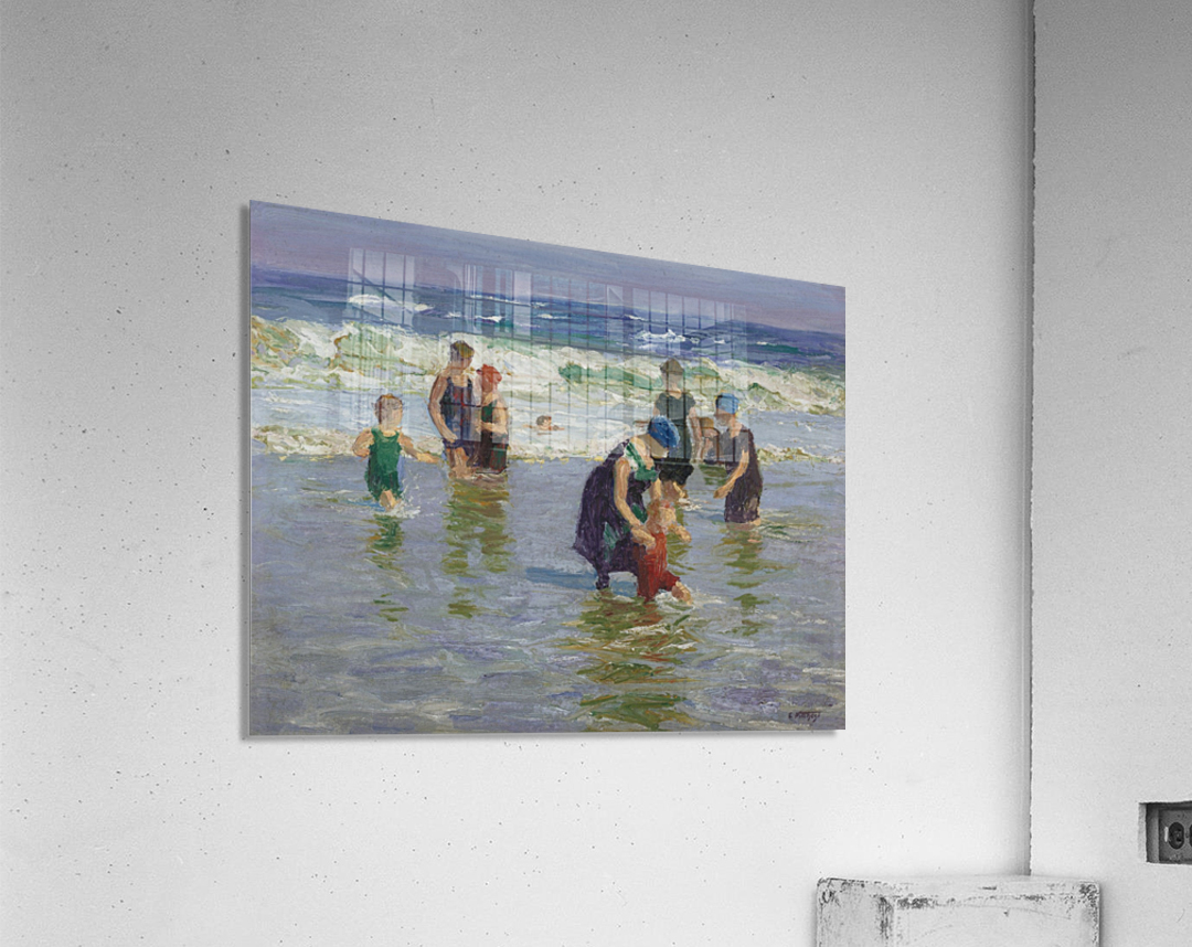 People enjoying the sea  Acrylic Print