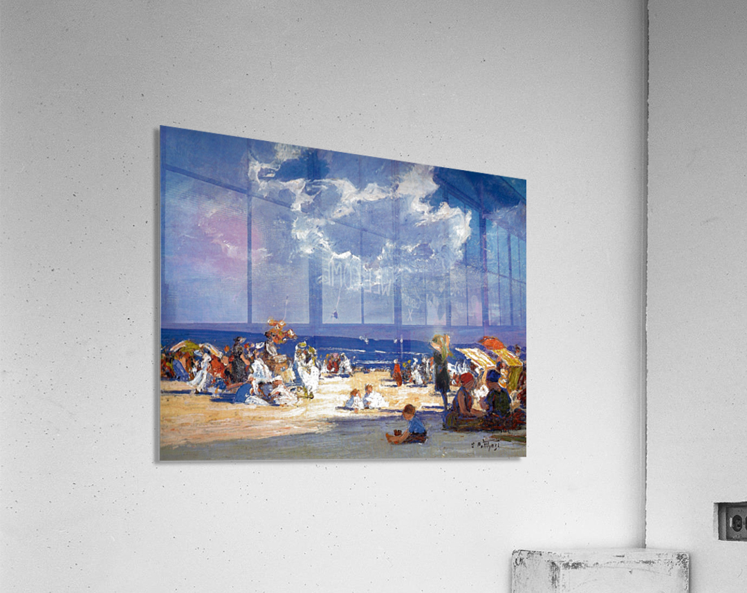 People by the beach  Acrylic Print