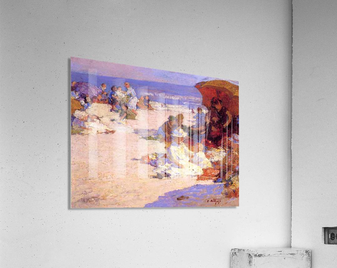 Picknickers on the Beach  Acrylic Print