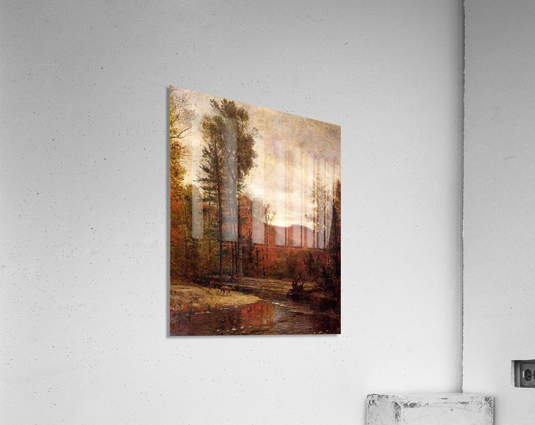 Adirondack Woodland with Two Deer 1880-1889  Acrylic Print