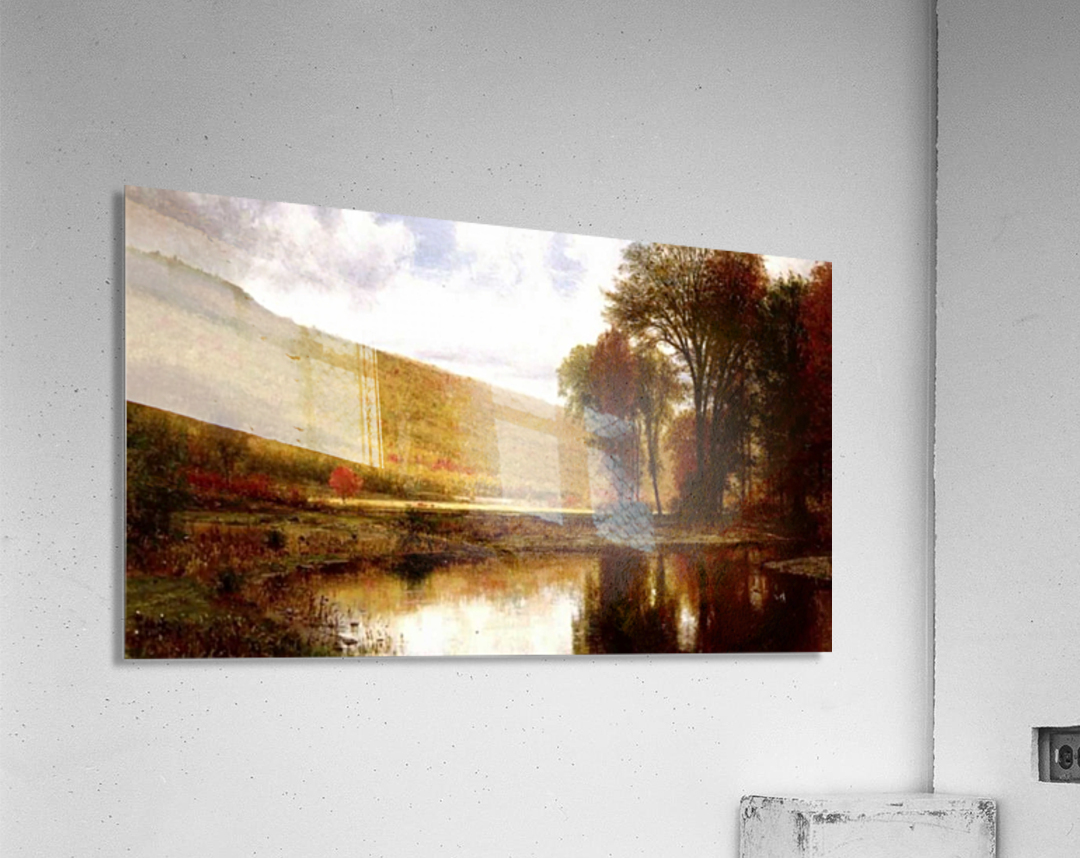 Landscape with a lake  Acrylic Print