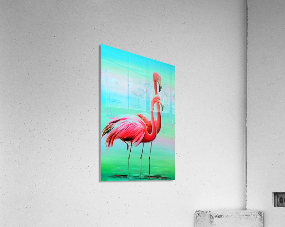Фламинго на рассвете   Acrylic Print