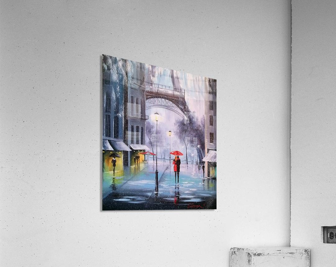 Первый снег в Париже    Acrylic Print