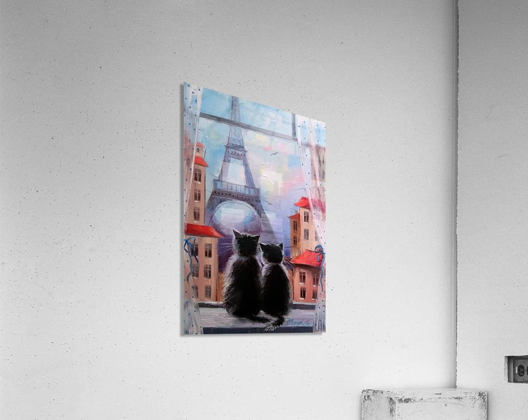Друзя в Париже  Acrylic Print