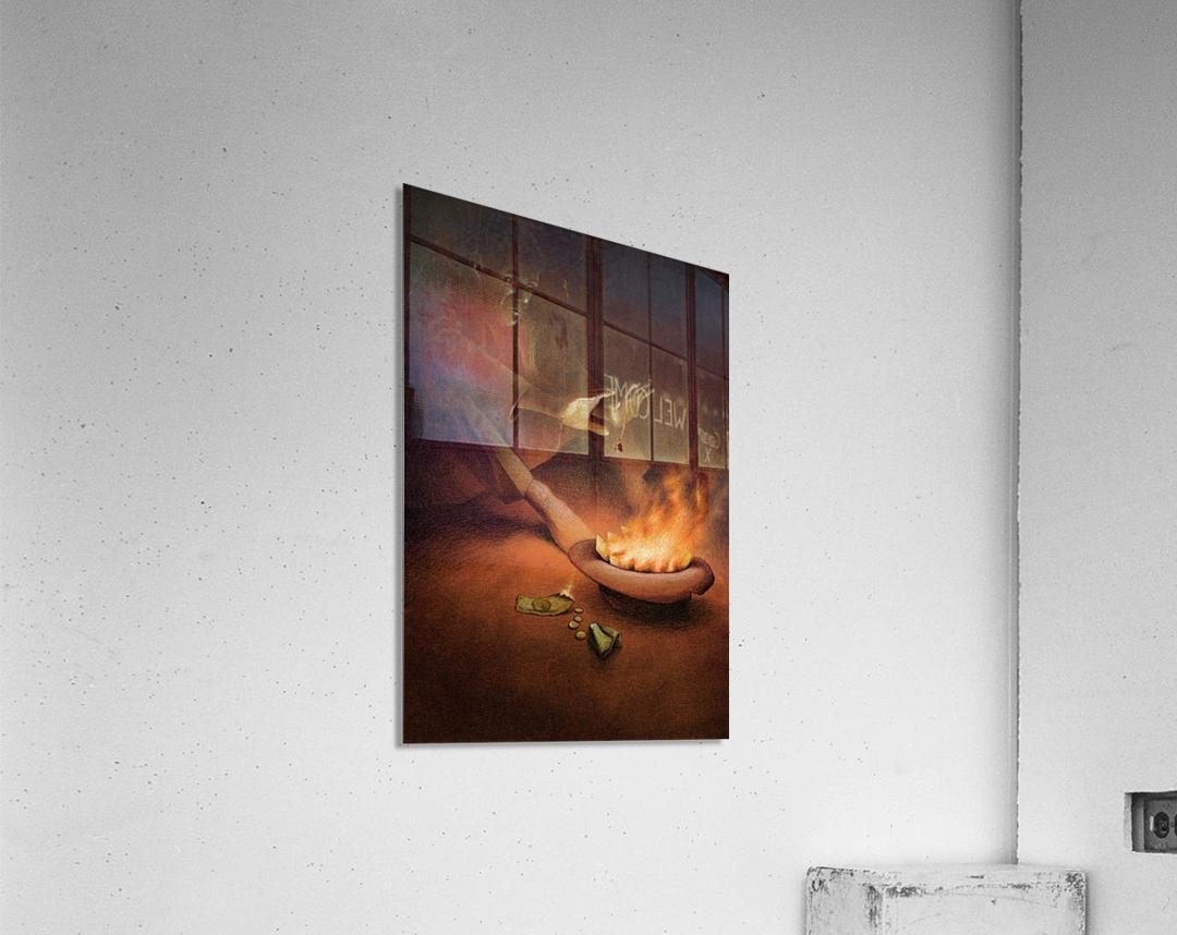 Money on Fire  Acrylic Print