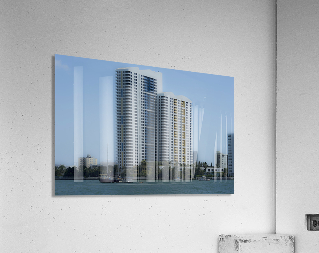 Miami Beach Buildings  Impression acrylique
