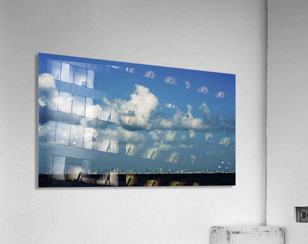 Miami Skyline  Impression acrylique