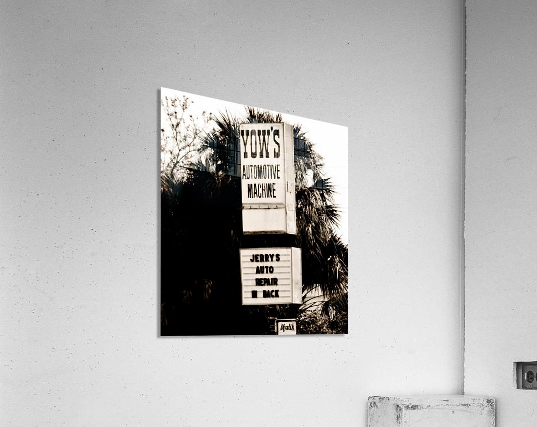 Vintage Sign  Impression acrylique