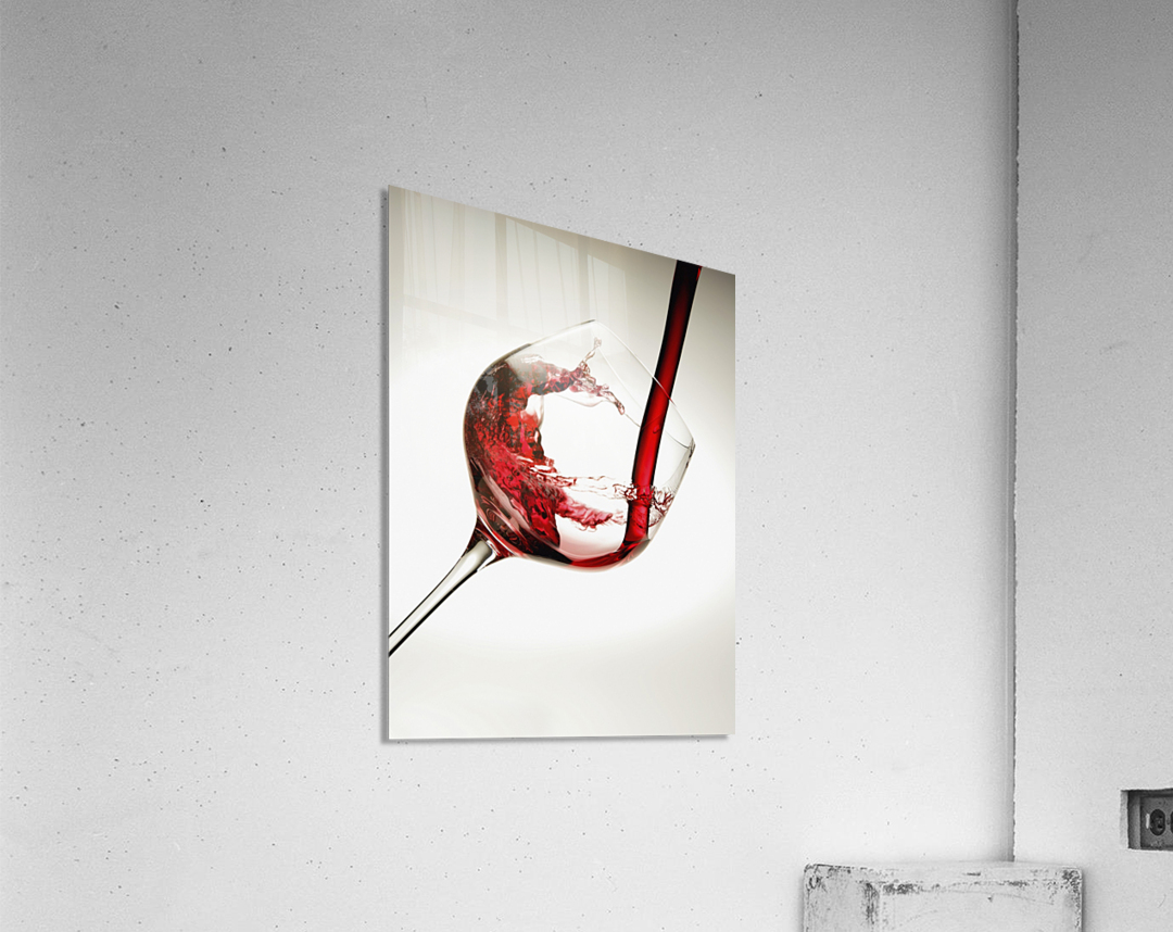 Red wine pouring into a glass  Acrylic Print