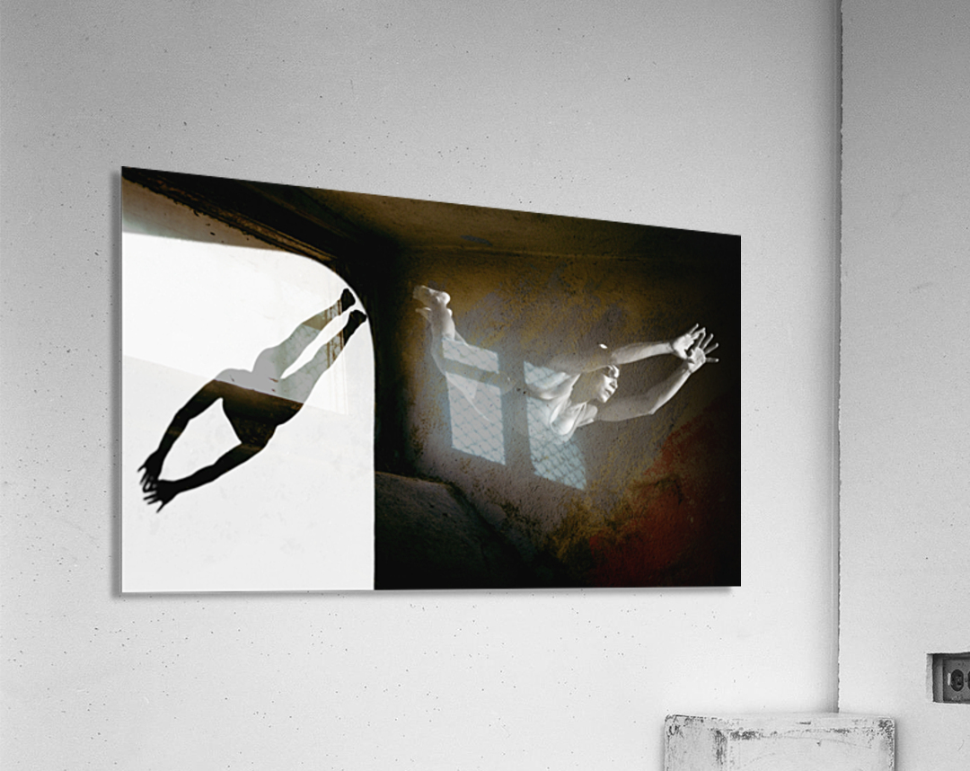 A Woman Diving Into The Unknown; Tarifa, Cadiz, Andalusia, Spain  Acrylic Print