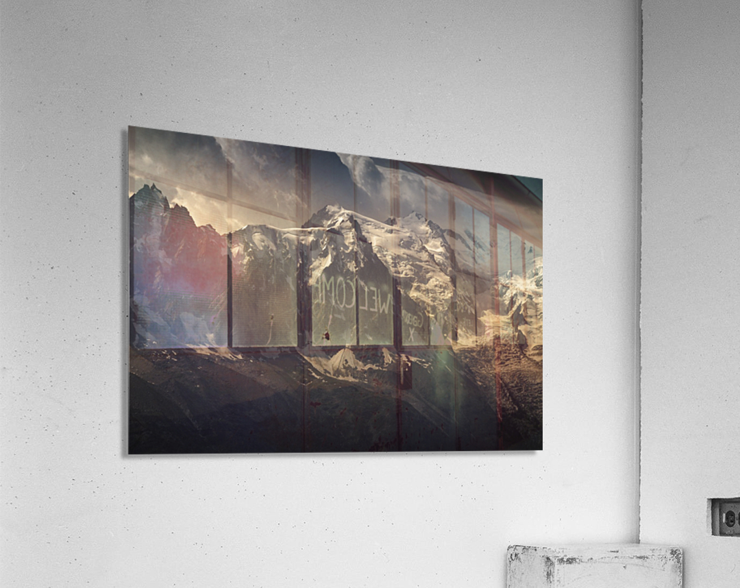 Aiguille du Midi and Mont Blanc, French Alps  Acrylic Print