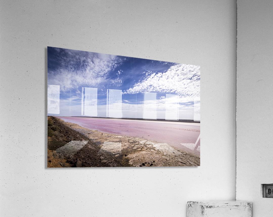 Pink Lake  Impression acrylique