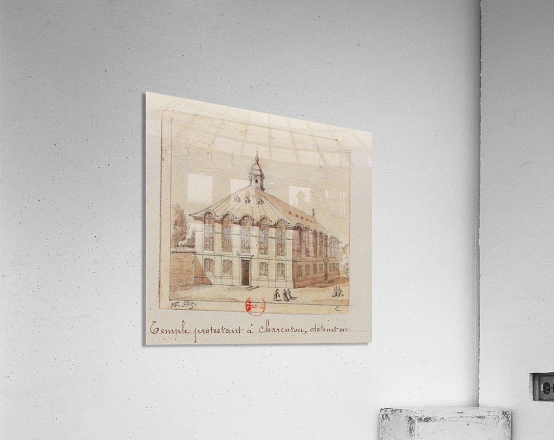 Temple protestant a Charenton detruit en 1686  Acrylic Print
