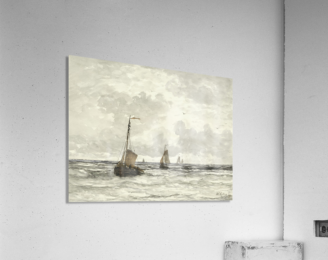 Vissersschepen in de branding  Acrylic Print