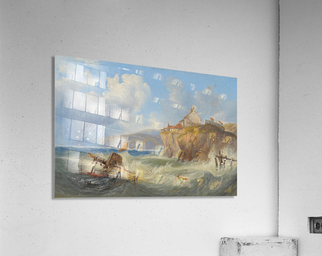 Landscape with a house by the sea  Acrylic Print