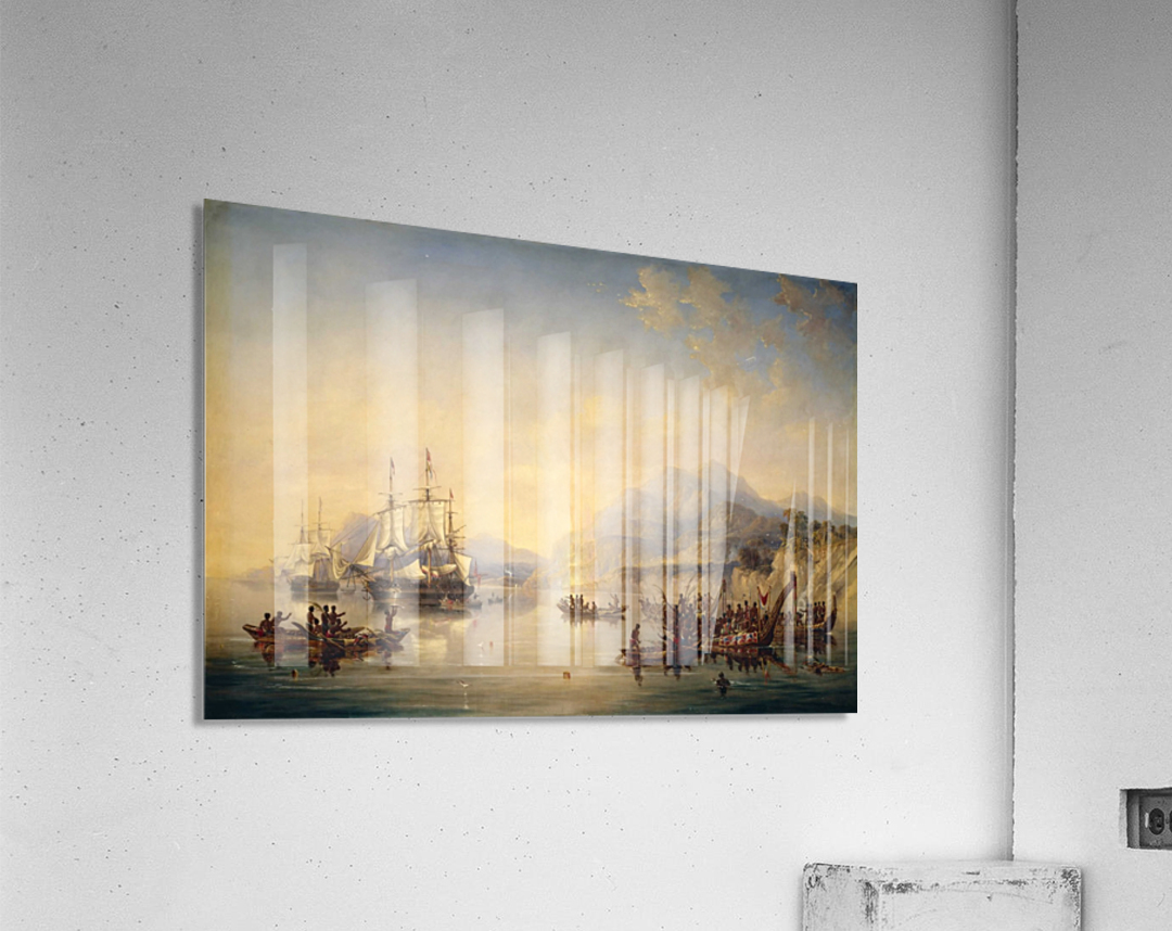 Erebus' and the 'Terror' in New Zealand  Acrylic Print