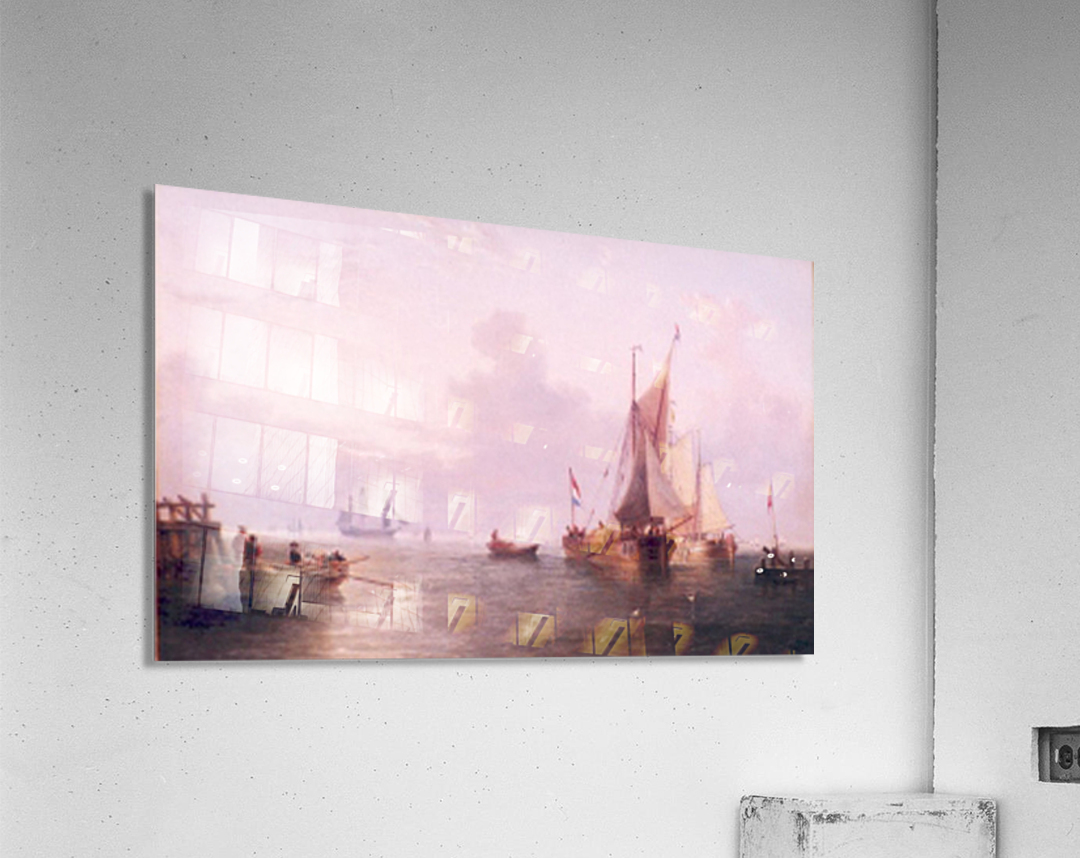 Shipping off a Dutch Port  Acrylic Print
