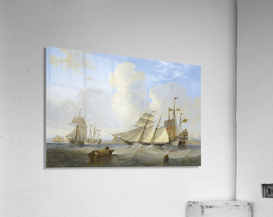 Lots of boats by the sea  Acrylic Print