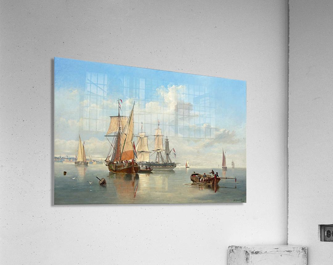 Shipping in a Flat Calm off the Dutch coast  Acrylic Print
