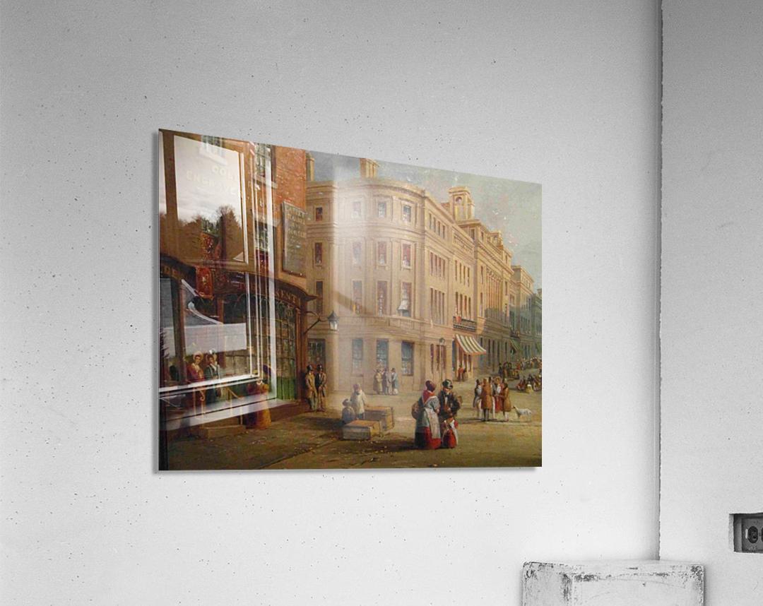 People talking in the street  Acrylic Print