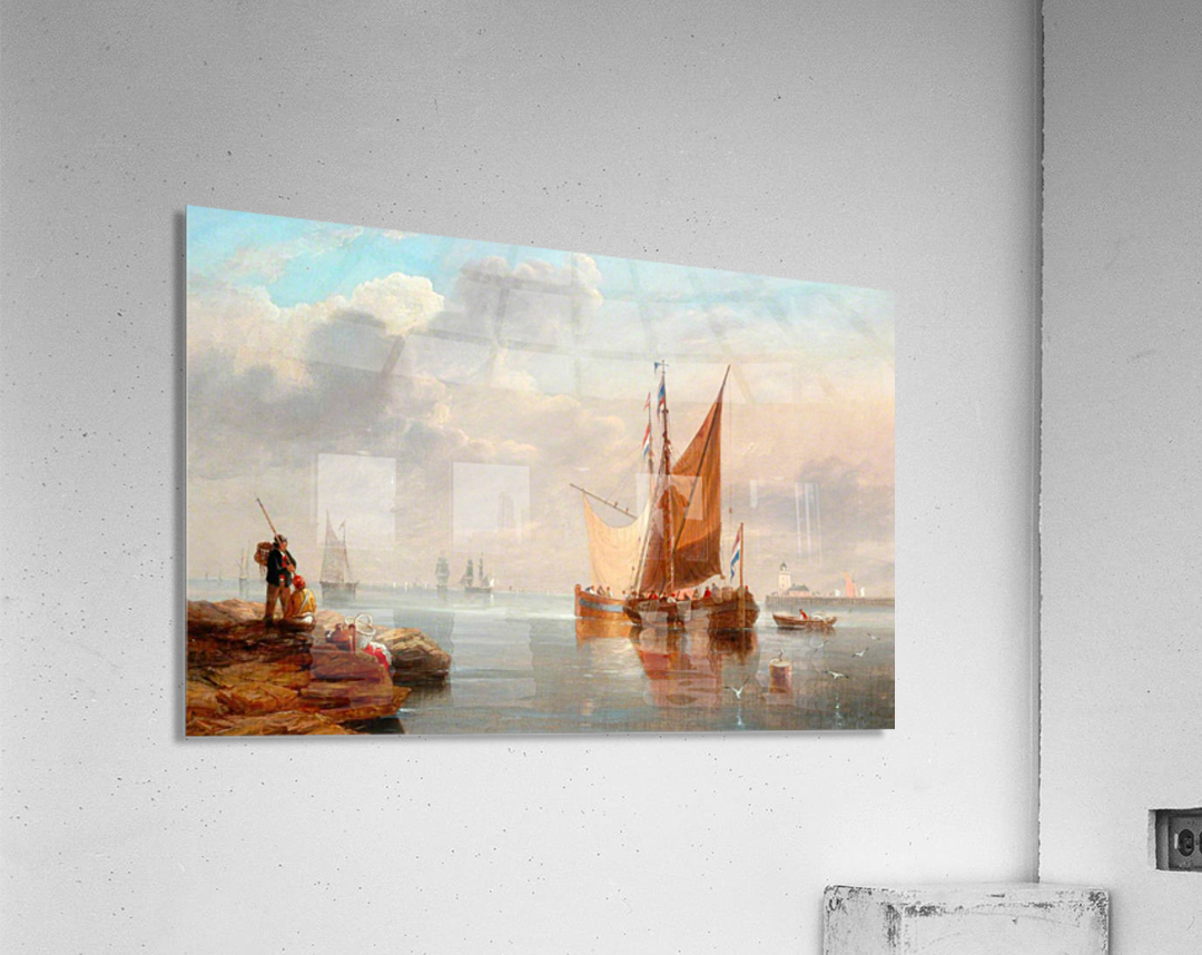 Dutch Fishing Boats  Acrylic Print