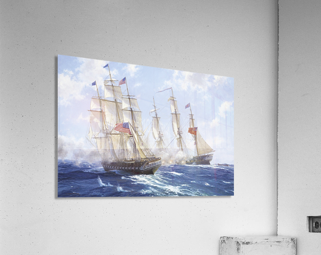 American boats by the sea  Acrylic Print