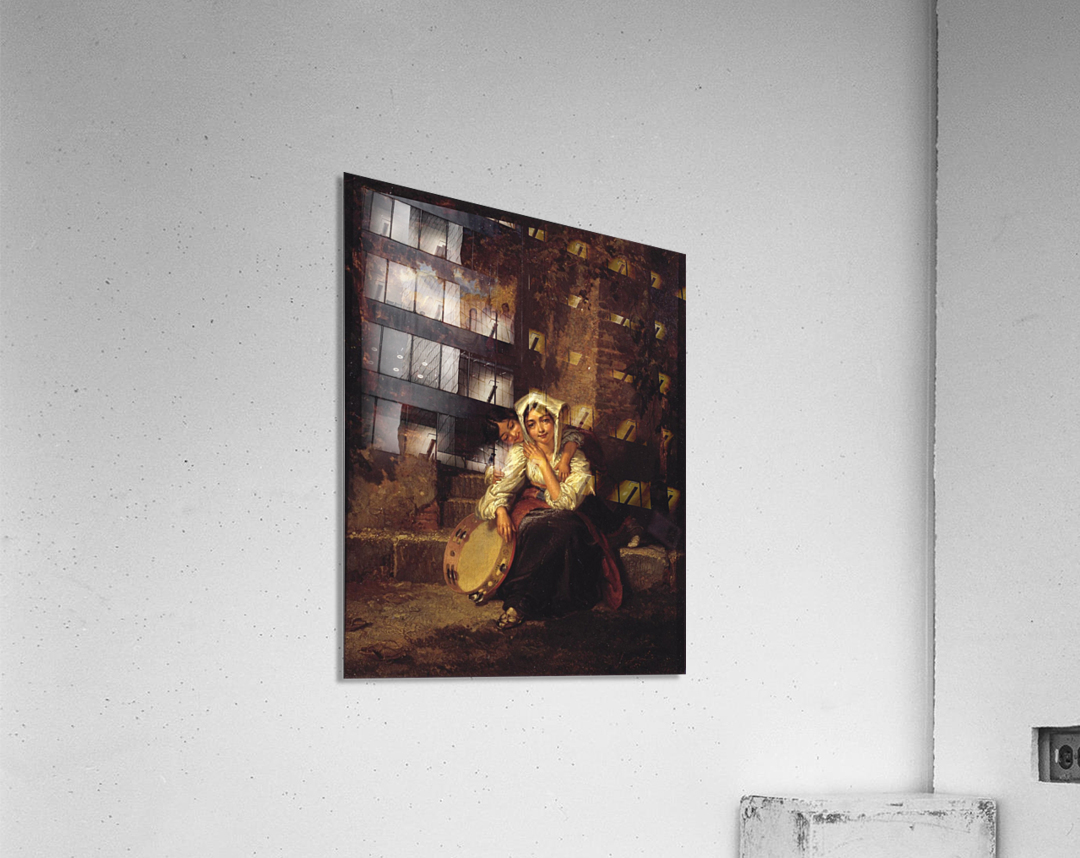 Two girls and a tamburine  Acrylic Print