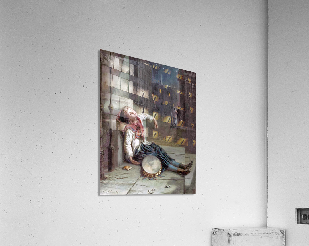 A child sleeping in the moonlight  Acrylic Print