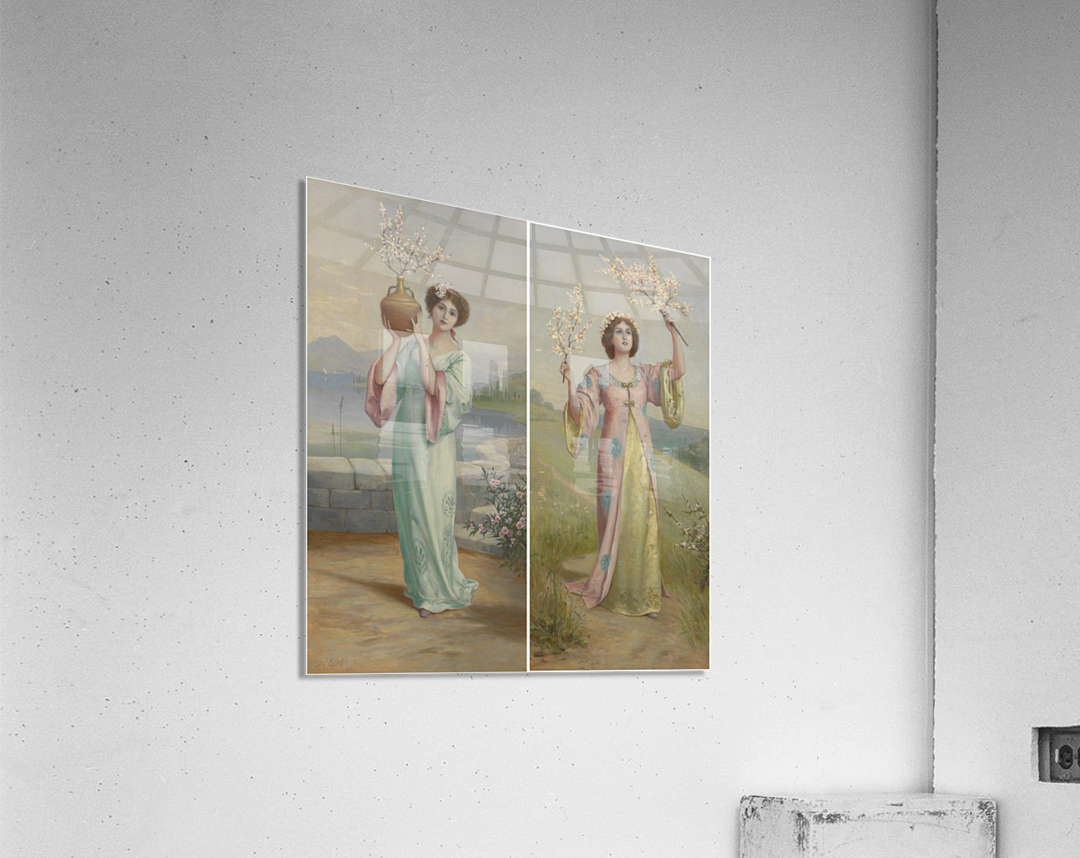 Two youg fairies  Acrylic Print