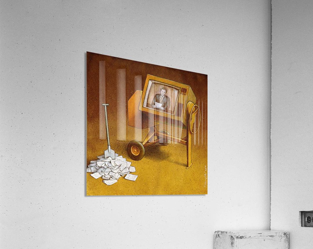 concrete mixer ( propaganda )  Acrylic Print