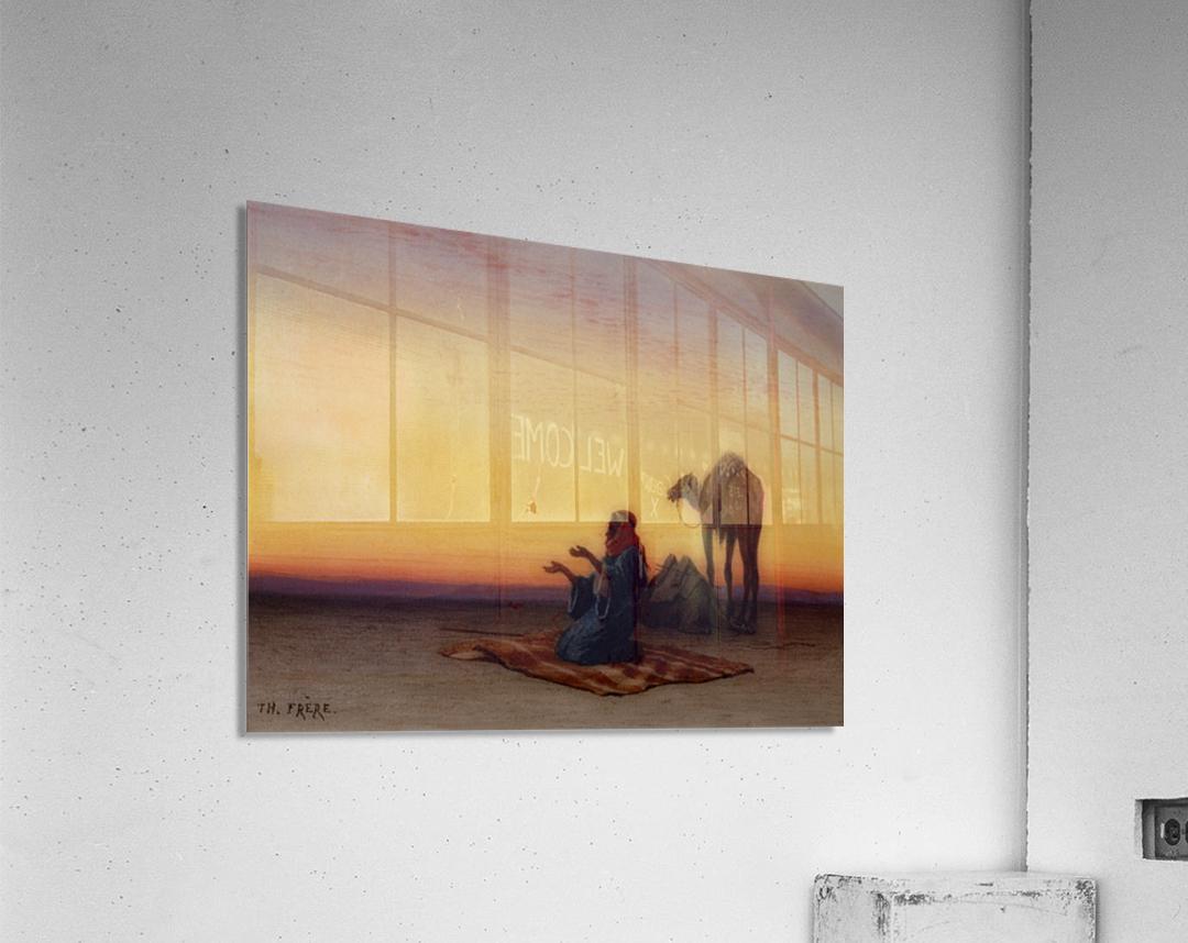 Arab at prayer  Acrylic Print