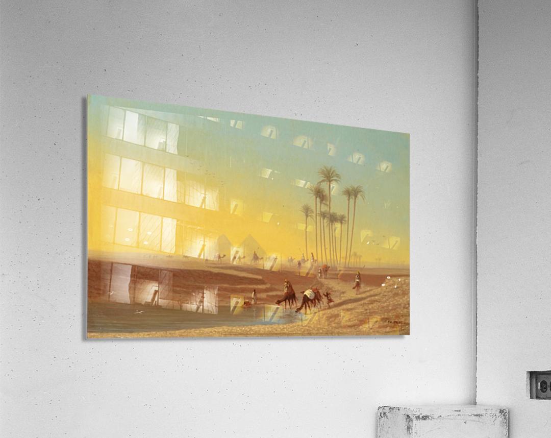 Oasis pres des pyramides  Acrylic Print