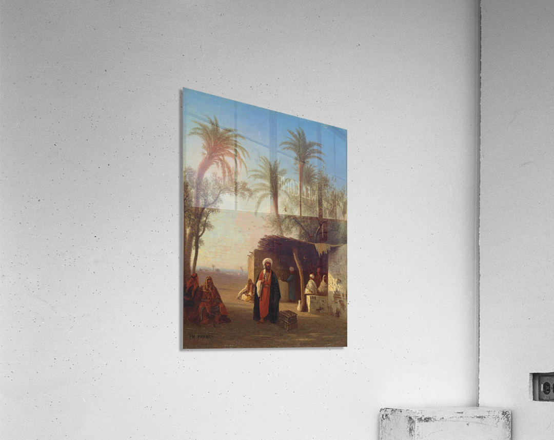 Arab encampment in an oasis nearby  Acrylic Print