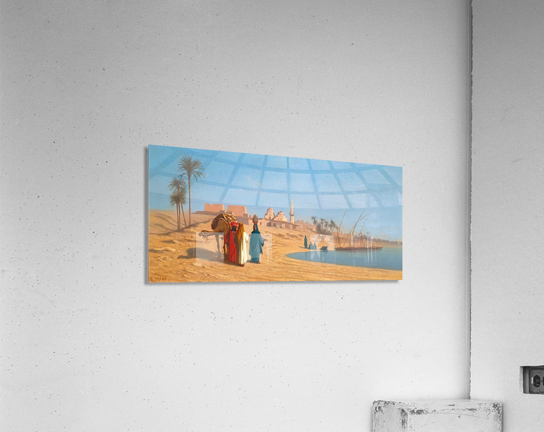 Conversation on the banks of the Nile  Acrylic Print