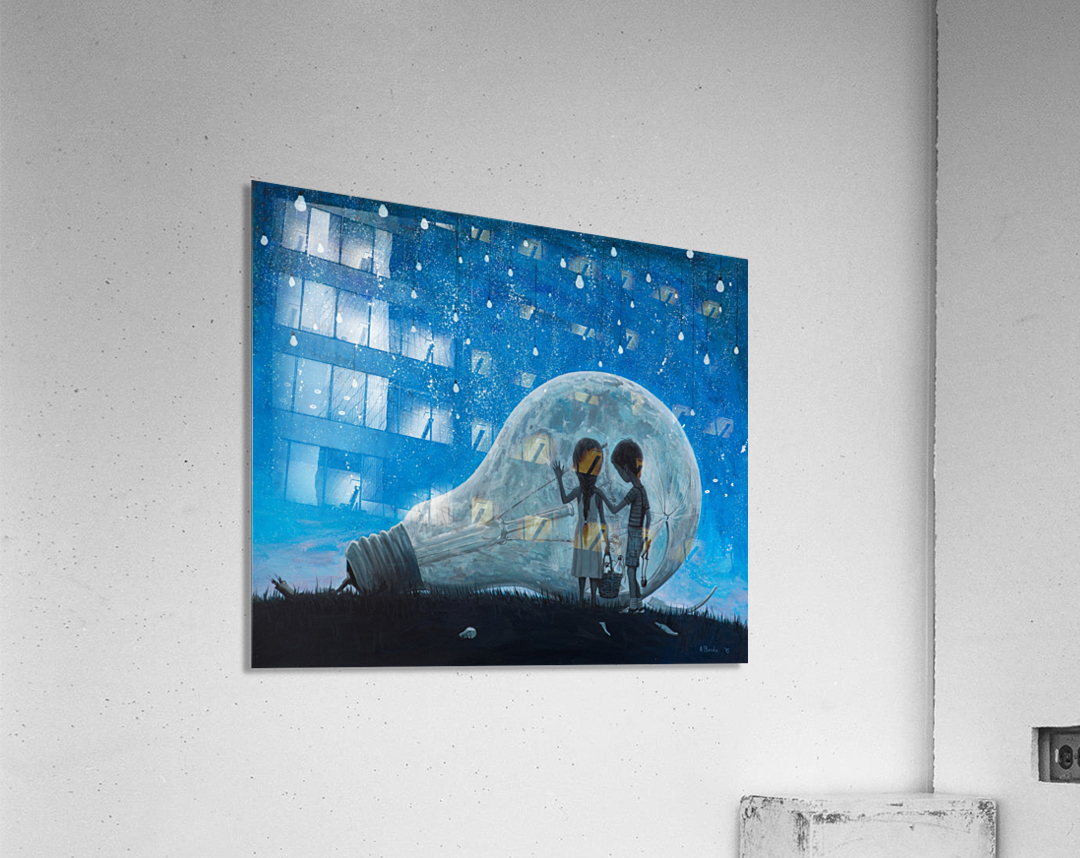 The Night We Broke The Moon  Acrylic Print