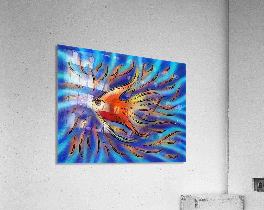 Poloniussa - red angelfish  Acrylic Print