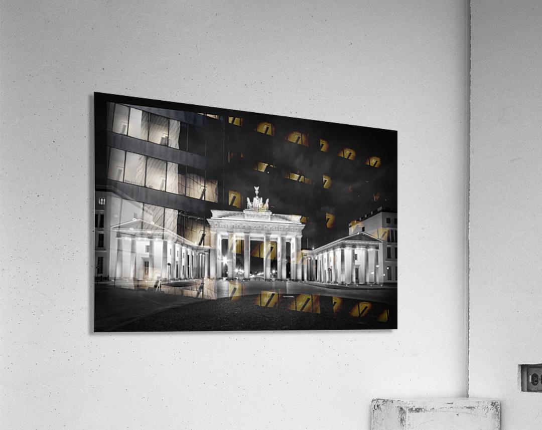 BERLIN Brandenburg Gate   Monochrome  Acrylic Print