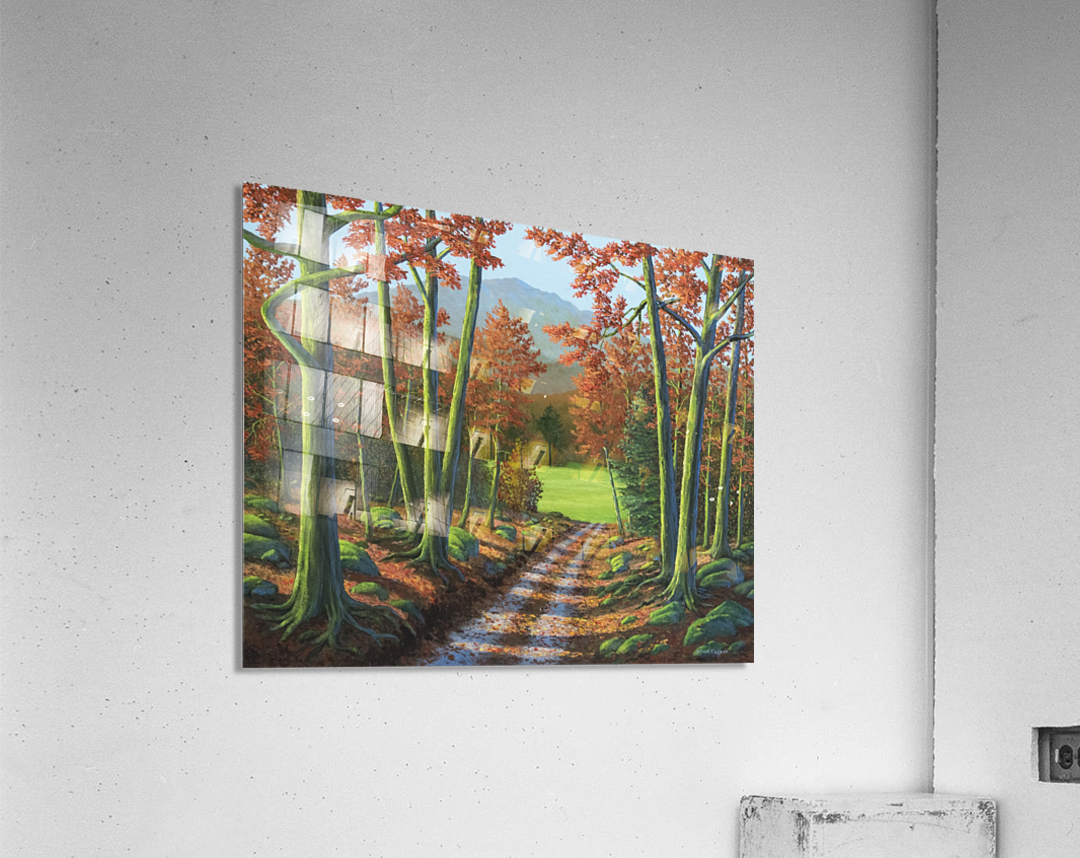 Maple Forest Road  Acrylic Print