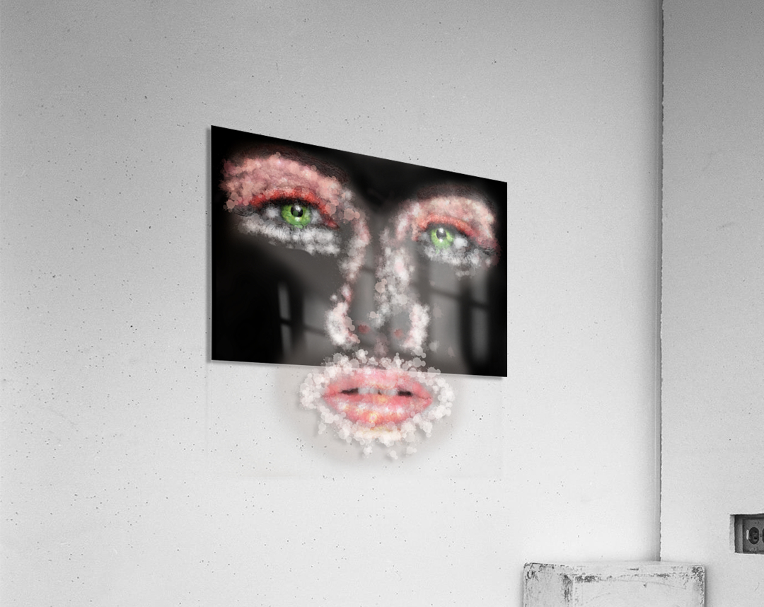 Kessania - white face  Acrylic Print