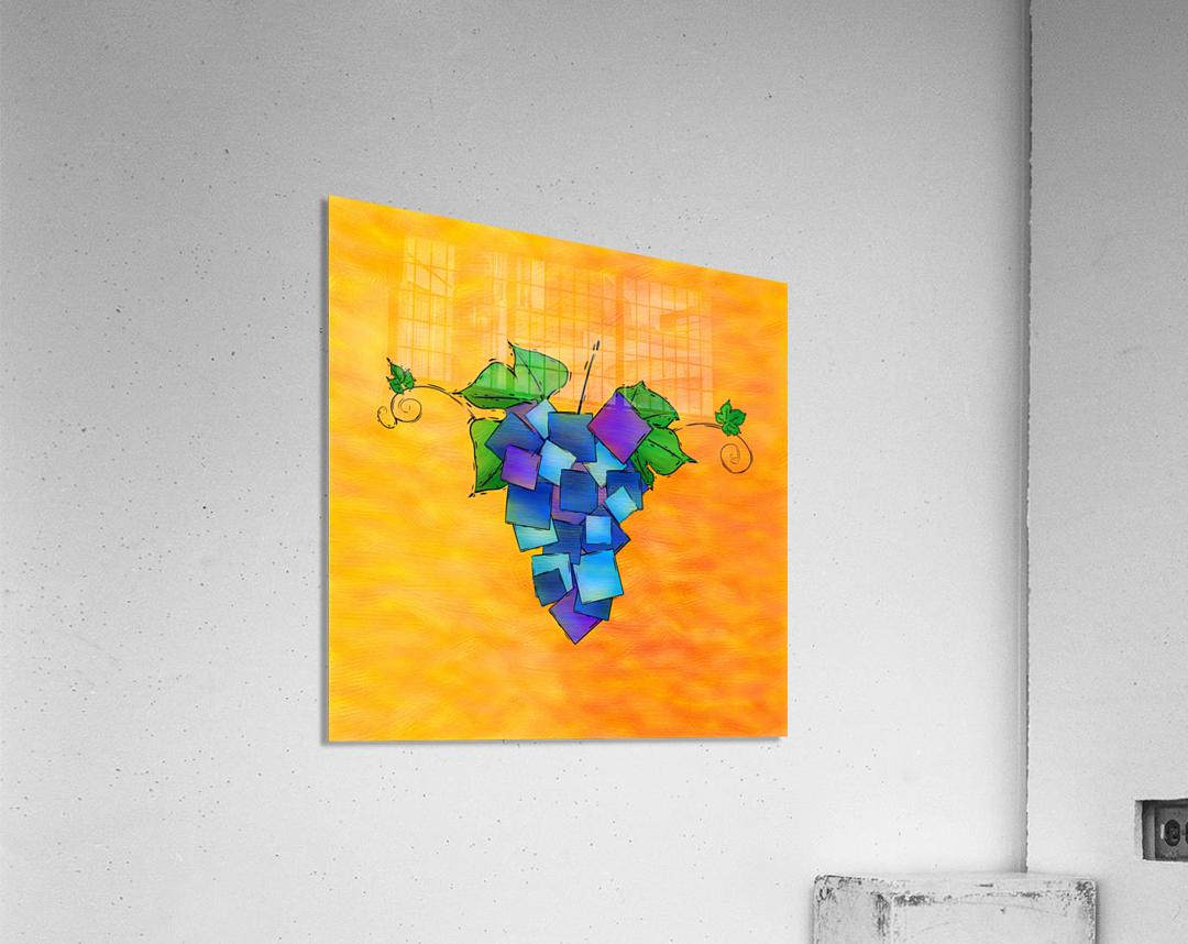Jamurissa - square grapes  Acrylic Print