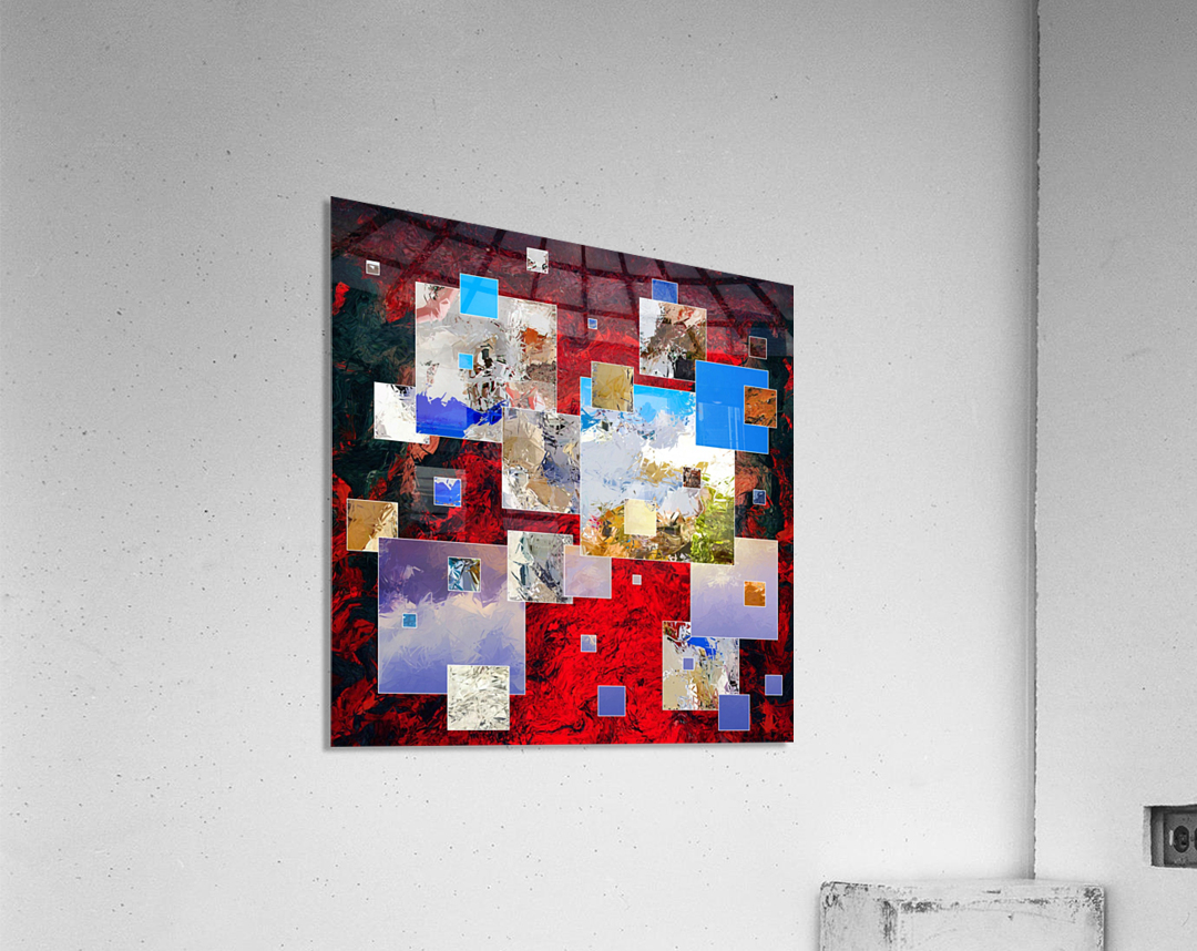 Espanissia - square flowers  Acrylic Print