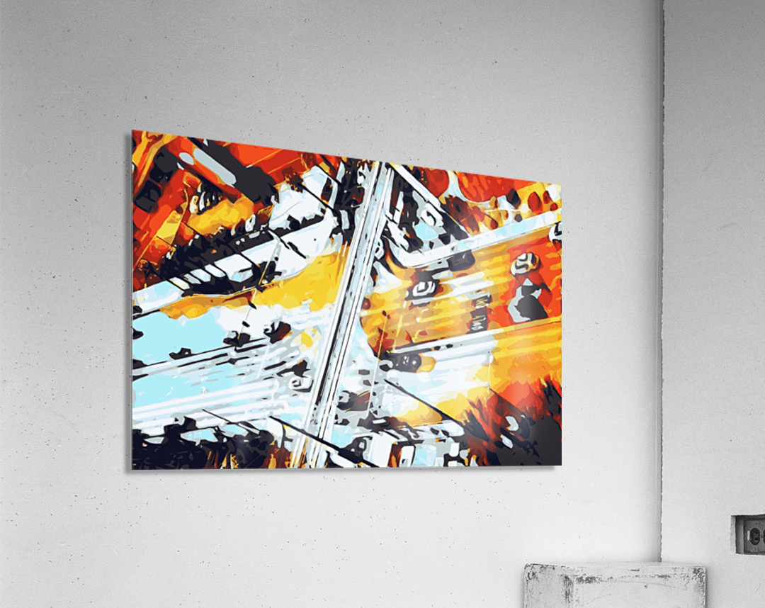road in the city geometric abstract background  Acrylic Print