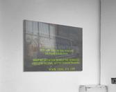 helping the homeless get to vendor training. OKC  Acrylic Print