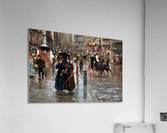 Naples via Toledo, with rain drops  Acrylic Print