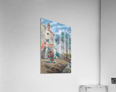 Two girls carrying fruits to their house  Acrylic Print