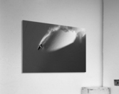 Person extreme snowboarding in mountains above Haines, Southeast Alaska, USA  Acrylic Print