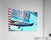 Classic Gondola boat and blue water  Acrylic Print