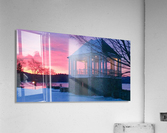 winter sunrise over the park  Acrylic Print
